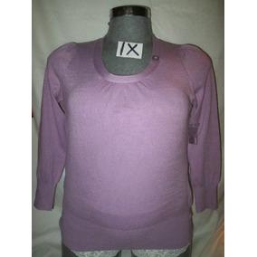 Blusa Sweater Lila Manga Larga Talla 1 X Extragrandes