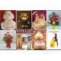 Revistas De Decoracion De Tortas+arreglos Florales+pintura