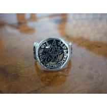 Pentagrama Masonico En Anillo De Plata, El Mejor Terminado