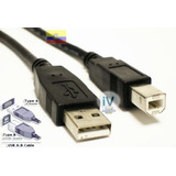 Cable De Impresora Usb 2.0 Tipo A-b De 3 Metros Resistente