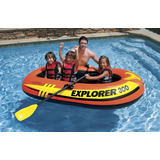 Bote Balsa Explorer 300 Inflable Intex 195kg Sin Remos