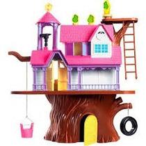 Casa Na Árvore Casinha Com Bonecos Homeplay 3901