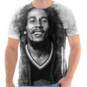 Camiseta Camisa Personalizada Bob Marley Reggae 7.