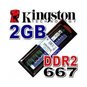 Memoria Ram 2 Gb, Ddr2 667 Mhz Pc2-5300 Kingston Para Pc