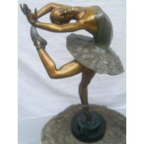 Lrc Bailarina De Ballet Parada Sobre Un Pie, Bronce, Arte.