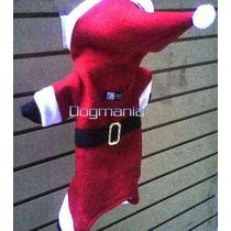 Disfraz Pants Santa Claus Con Gorro Talla 5 Ropa Para Perro