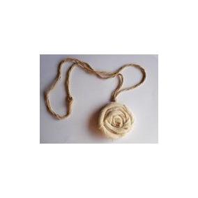 Collar Artesanal De Flor De Tela Idd