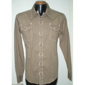 Camisa Lisa Marca Quarry M/l 100% Alg Mod 5917 E-sho Nvb!!!