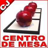 Centro De Mesa 3 Manzanas Gigantes Decoracion Minimalista