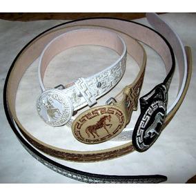 Cinturon De Charra Bordado En Hilo Para Dama Vaquero Nvb