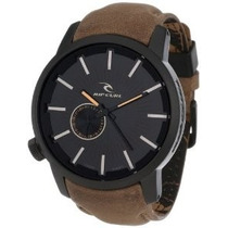 Relógio Rip Curl Detroit Leather Midnight Tan Couro Lth