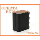 Bateria Li-ion Np-f970 7400mah Video Camara Sony Hdr-fx7