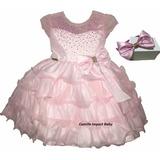 Vestido Infantil Luxo Realeza Princesa Barbie Promoção