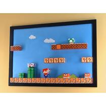 Ppkf 005, 10 Moldes De Mario Bros Para Diorama En Papel 2x1
