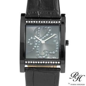 Reloj Paris Hilton Dama Acero Piel Y Priedrería