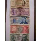 Se Venden 5 Billetes De 1000,100,50,20, Y 10 Pesos