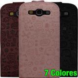 Funda Estuche En Piel Samsung Galaxy S3 I9300 Slll Cuero