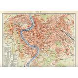 1903 Antiguo Plano De La Cd De Roma Italia