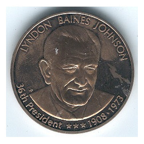 Medalla Del Presidente Lindon B Johnson, Presidente # 36 Usa