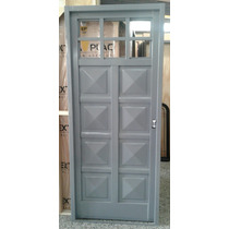 Puerta Doble Chapa 1/4 Vidrio 70/80x200