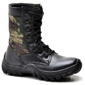 Coturno Bota Tênis Militar Tatico Infantil Masculino Feminin