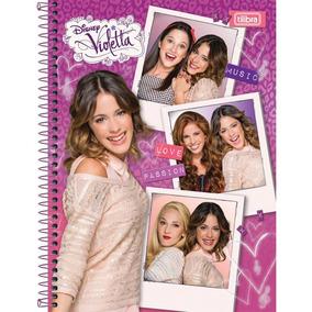 Caderno 10 Mat. Violetta 200 F C/04 Tilibra