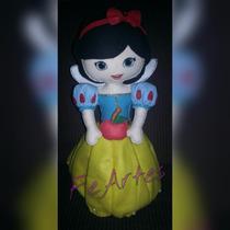 Boneca Branca De Neve Em Feltro Enfeite Artesanal 45 Cm Alt