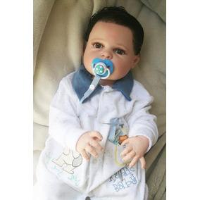 Bebê Rebor Todo De Vinil Siliconado Gabriel