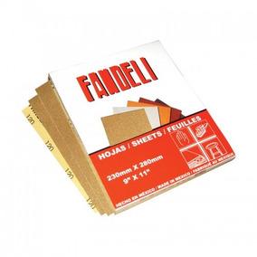 Lija Para Madera Grano 100 Fandeli Caja Con 50 Piezas