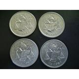Monedas Serie De 25 Ctvos. De Balancita De Plata