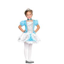 Princesa Cuento De Hadas Vestido Azul Plata Disfraz C48125
