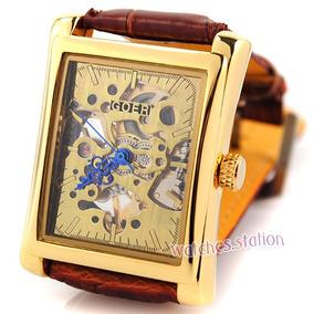 Regale Bonito Reloj Modelo Eskeleton De Hombre Goer