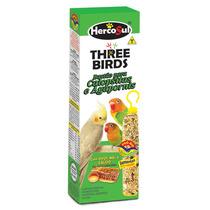 Kit 15 Caixas Three Birds Bastão Calopsitas E Agapornis 60g