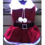 Vestido Santa Claus Talla 4 Para Perra Navidad