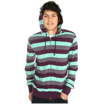 Hot Topic Sudadera Chor Green And Purple Striped Hoodie G