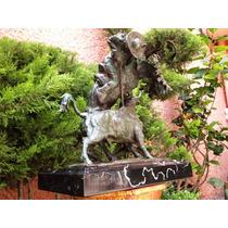 Lrc El Toro Vs El Picador, Escultura De Bronce Muy Bonita.