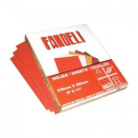 Lija Roja K61 Fandeli Caja Con 50 Piezas. Fina