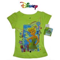 Playera 2 Anos Nina Campanita Disney Verde Blusa Hermosa