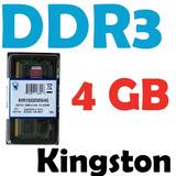 Memoria Ram 4 Gb, Ddr3 1333 Mhz Pc3-10600 Kingston P/ Laptop