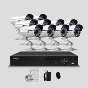 Kit Segurança Dvr Stand Alone Intelbras 16 Canais 10 Câmeras