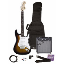 Squier Pack Guitarra Stratocaster Fender Amplificador 10 W +