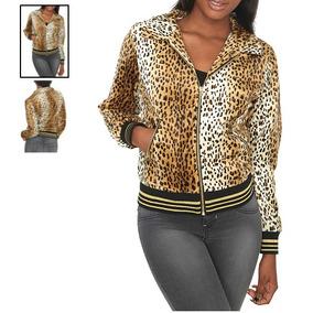Hot Topic Chamarra Leopard Faux Fur Jacket M