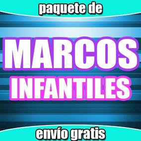 Paquete Marcos Infantiles Cumpleaños, Fiestas, Varios Diseño