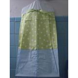 Porta Pañales De Tela Super Bonito Azul/verde Nvb