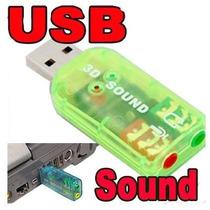 Lote 30 Tarjeta De Sonido Usb Audio 5.1 Digital 3d Pc Laptop