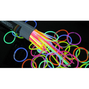 100 Pulseras 8 Cyalume Glow Luminosas Neon Party Fiesta
