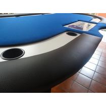 Mesa De Poker Con Entrada De Dealer Y Charola De Fichas.