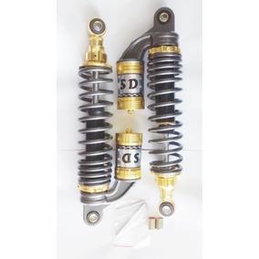 Amortecedor A Gas Dourado Cg Titan 125 E 150 Ybr Garcia Japa
