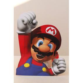 Centro De Mesa De Mario Bros Para Fiestas Infantiles