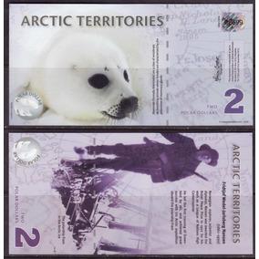 Bonito Billete De Los Territorios Del Artico Con Foca